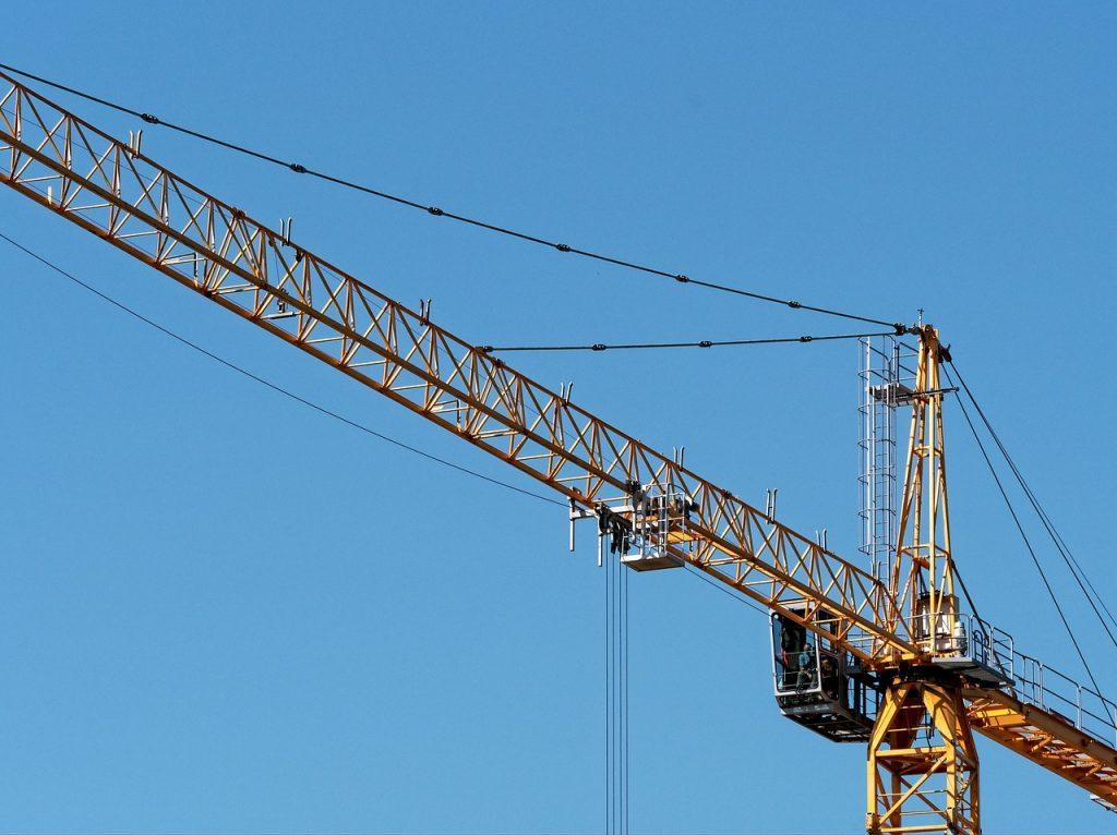 crane, tall, tower